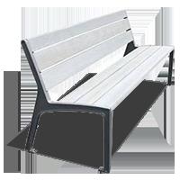 Алюминиевые скамейки